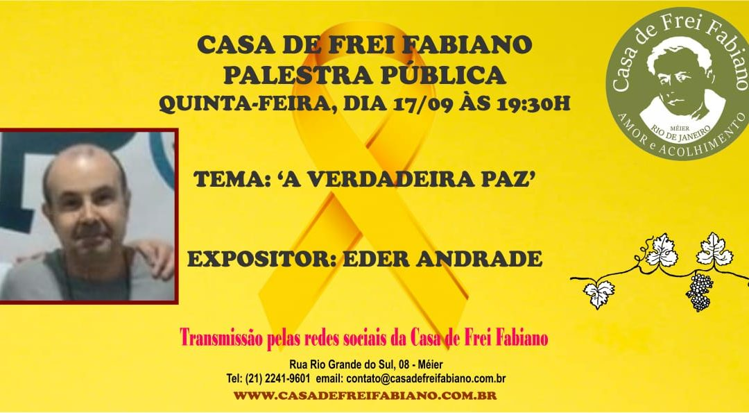 Palestra dia 17/09 as 19:30h